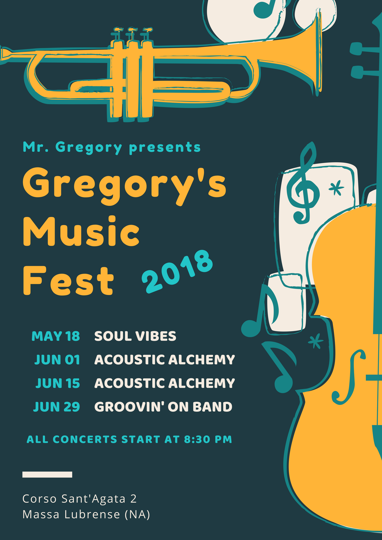 Gregory's Music Fest 2018 – Groovin' On Band
